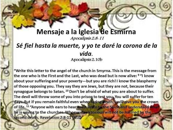 10 Mensaje a la Iglesia de Esmirna 100817