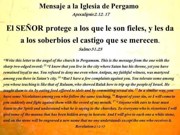 10 Mensaje a la Iglesia de Pergamo 101517