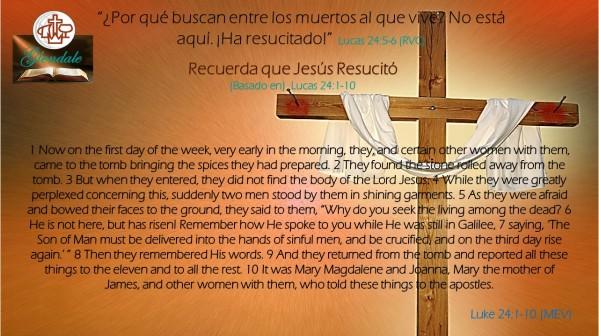 04 Recuerda que Jesus Resucito 040118