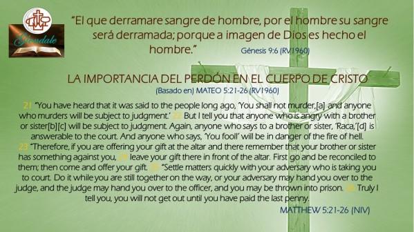 Importancia del Perdon en el cuerpo de Cristo 110418