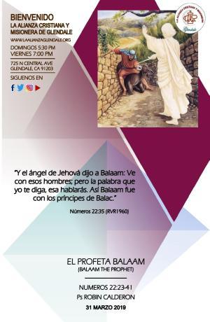 El Profeta Balaam 033119