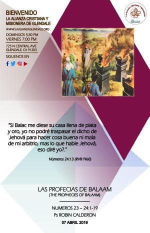 04 Las Profesias de Balaam 040719