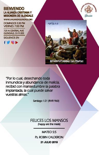 07 Felices los Mansos 072119